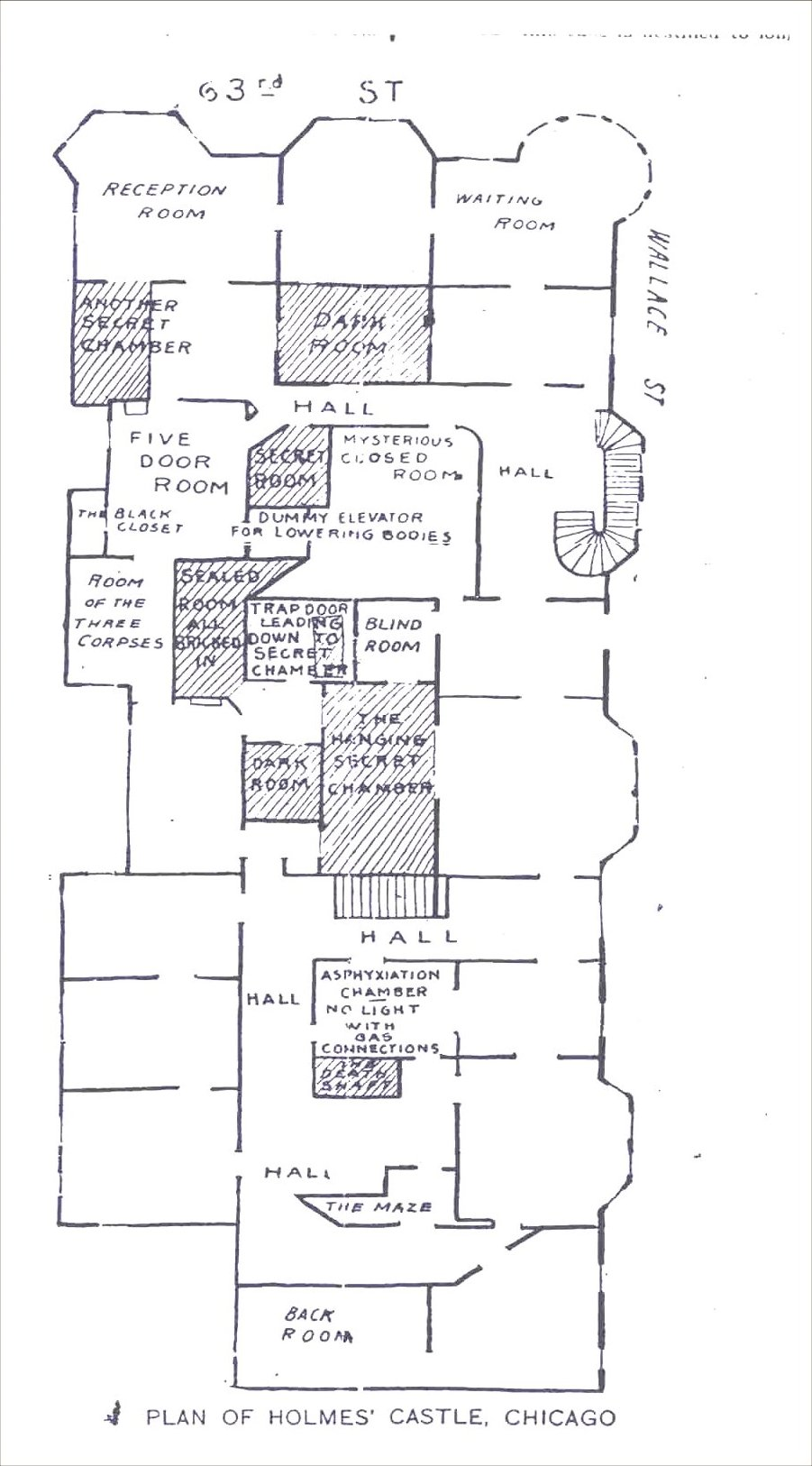 H_H_ Holmes Murder Castle Blueprints http://www.dmptv.co.uk/pro/hotel/2/index.htm
